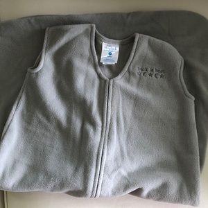 EUC Halo SleepSack Grey Fleece